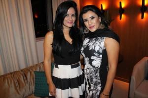 Tatiane Soares (esposa do Wander) e Danyella Soares