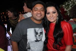 Manager Toninho Santos com Maraisa
