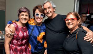 Cris Delanno, Leila Pinheiro, João Augusto e Mônica