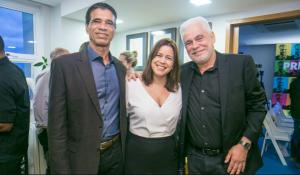 João Gonçalves, Flávia Cesar e Aloysio Reis