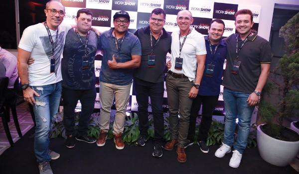 Os sócios-diretores da WorkShow Nordeste: Erberth Santos, Fernando Parente, Toninho Santos, Wander Oliveira, Douglas Santos, Eugênio Parente e Filipe Risse