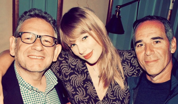 Lucian Grainge, Taylor Swift e Monte Lipman | Foto: Reprodução/Instagram