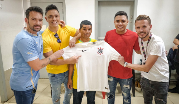 Cabrera, Joey Montana, Guitarra Humana e Felipe Araújo | Foto:  Paolo Paes/Divulgação