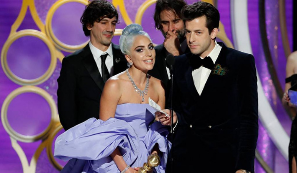 golden globe gaga